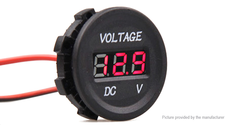 0.8 3-Digit LED Voltmeter for Car / Motorcycle