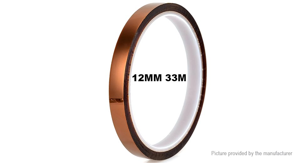 High Temperature Resistant Adhesive Kapton Polyimide Tape (12mm*33m)
