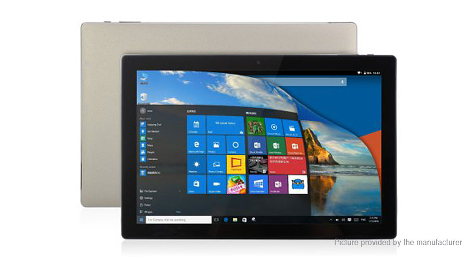 Authentic Teclast Tbook 10 10.1 inch IPS Quad-Core Tablet PC (64GB/US) 10,4GB/64GB,Gold,US,Windows Home(dual OS)