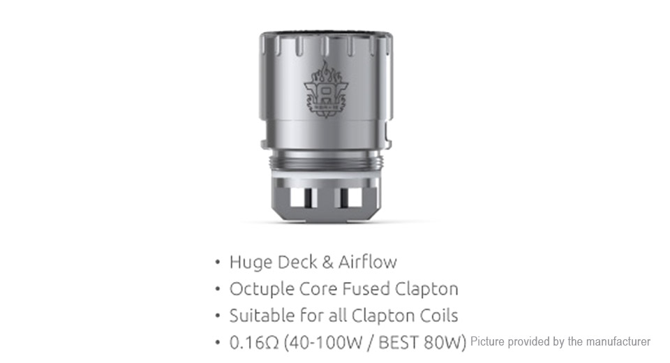 Image of Authentic Smoktech SMOK TFV8 Clearomizer Replacement V8 RBA-16 Coil Head