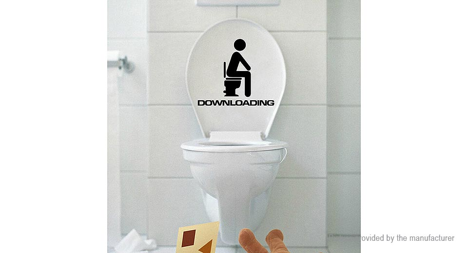 Downloading Bathroom Sign Toilet Sticker