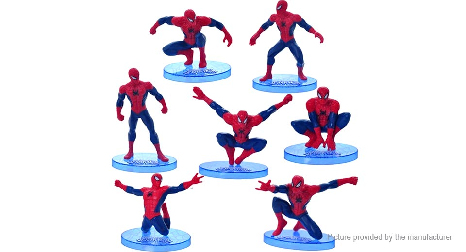 Spider Man Mini Figure Doll Toy (7-Piece Set)