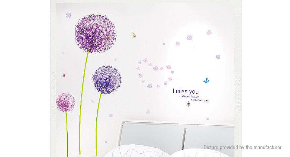 Flying Dandelions Styled Removable Wall Sticker Home Decor