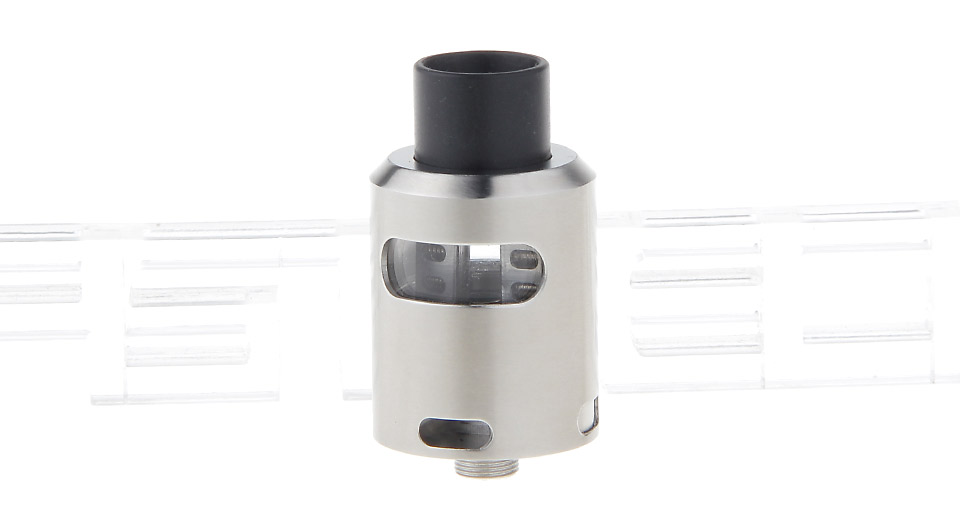 Tsunami 24 Styled RDA Rebuildable Dripping Atomizer 24mm, 304 SS + Glass, Silver