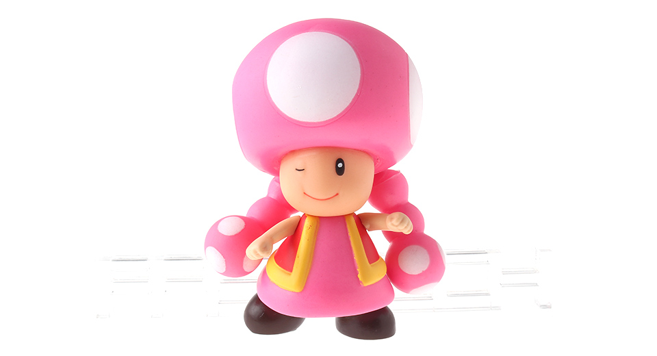 Super Mario Bros Mushroom Girl Action Figure Toy