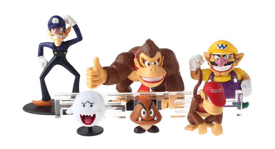 Super Mario Figure Doll Toy Set (6-Piece Set)