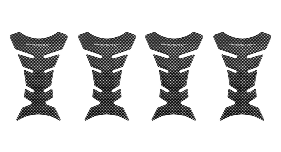 Motorcycle Fishbone Styled Fuel Tank Sticker Protector (4-Pack)