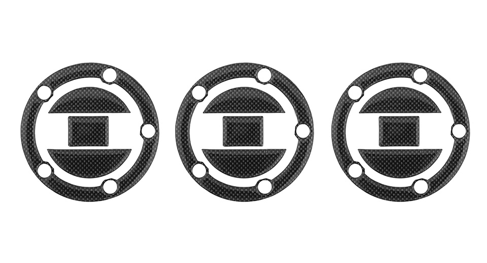 Motorcycle Tank Gas Protector Pad Sticker Decal (3-Pack)