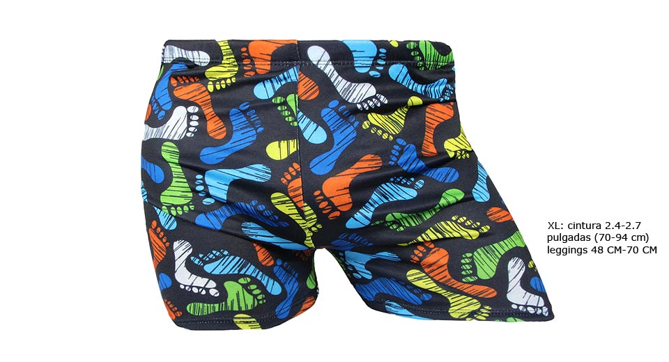 Men's Colorful Print Swimming Trunks (Size XL)