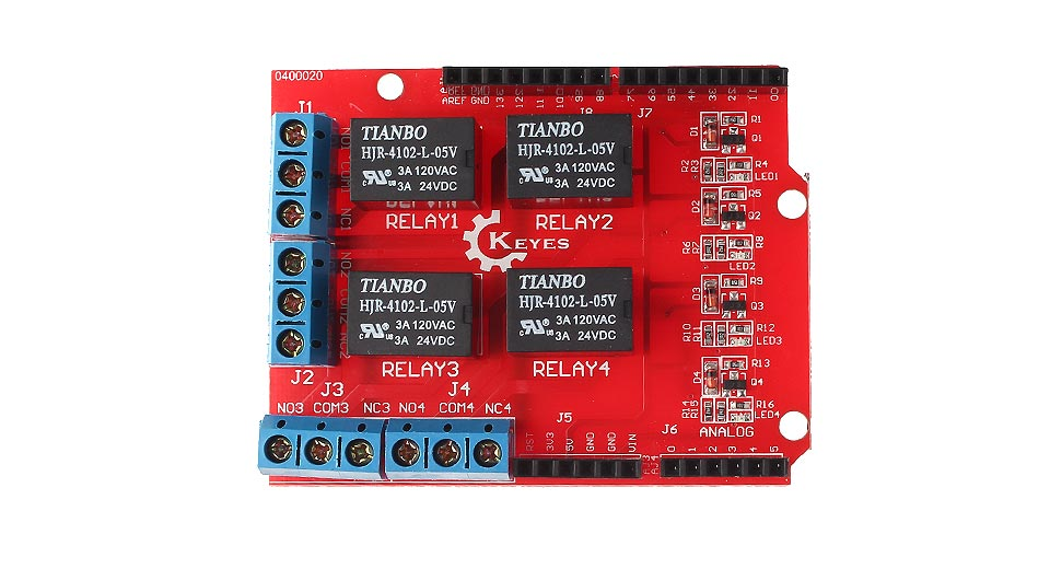 Product Image: keyes-eb0065-4-way-relay-module-control-panel-for