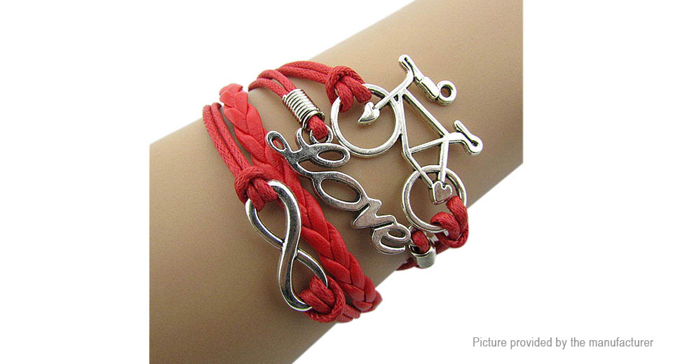 Image of Bicycle Love Women's Braided Bracelet