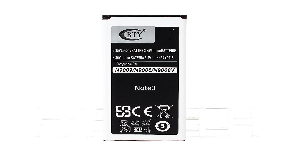 Authentic BTY Replacement 3.85V 3400mAh Li-ion Battery for Samsung Galaxy Note 3