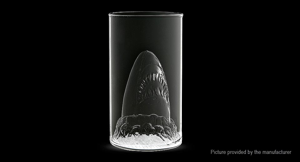 Creative Shark Design Double-Layer Cup Shot Glass (350ml)