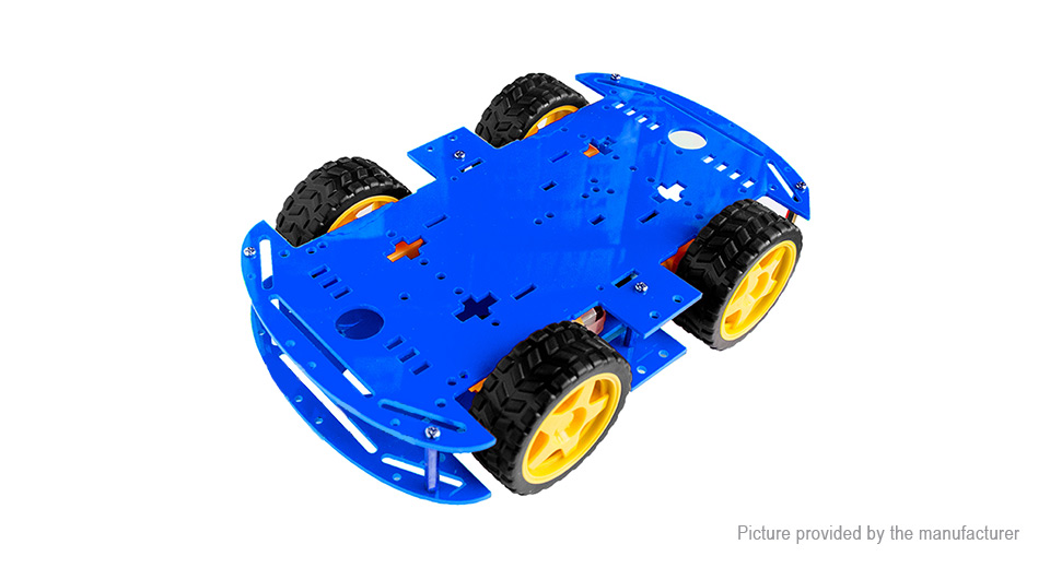Image of 4-Wheel 4WD Smart Robot Car Chassis Kit w/ Speed Encoder for Arduino