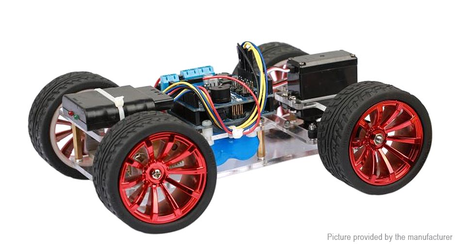 Image of 4-Wheel 4WD Smart Tracking Robot Car Chassis Kit for Arduino