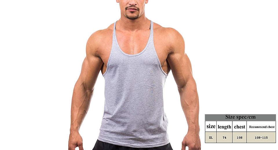 Image of Men's Bodybuilding Gym Sleeveless Sports Vest Tank Top (Size XL)
