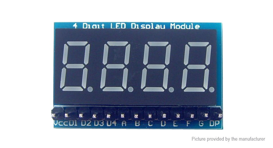 "Image of 0.36"" 4-Digit Red LED Display Module for Arduino"