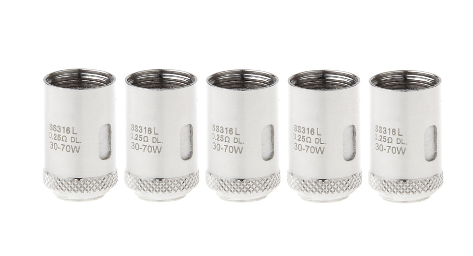 Image of Replacement 316L Stainless Steel Coil Head for Joyetech Cubis Pro Tank (5-Pack)