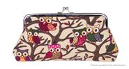 Buy Owl Pattern Women's Coin Purse Wallet Cell Phone Pouch Owl Pattern, Khaki B for $2.35 in Fasttech store