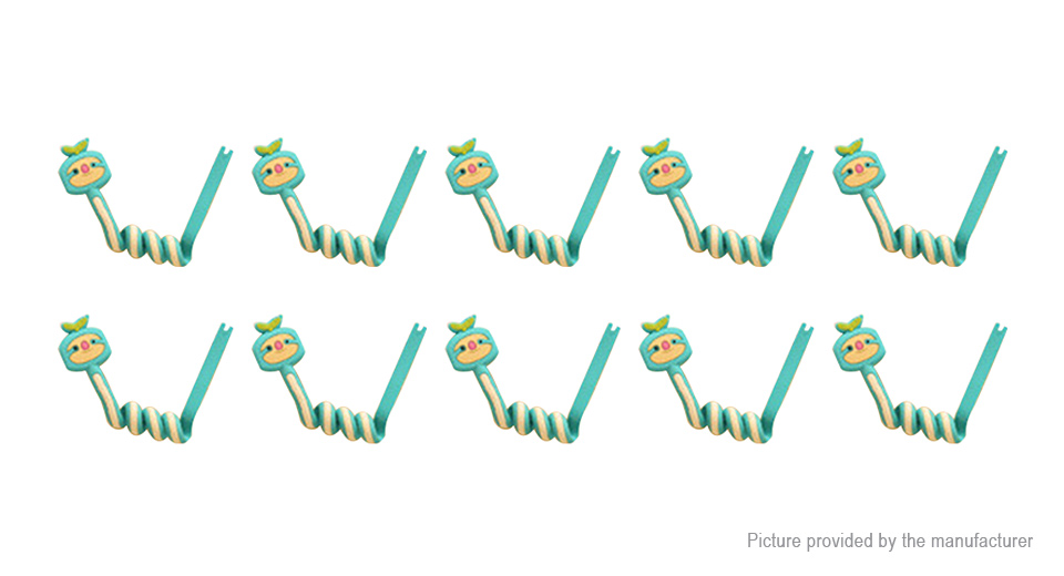 Cartoon Animal Styled Earphone Cable Winder Organizer (10-Pack)