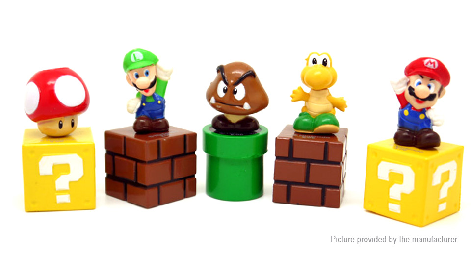 Super Mario Figure Doll Toy Set (5-Piece Set)