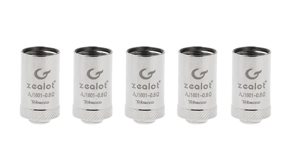 Image of Authentic Zealot AJ-1601 Replacement Coil Head (5-Pack)