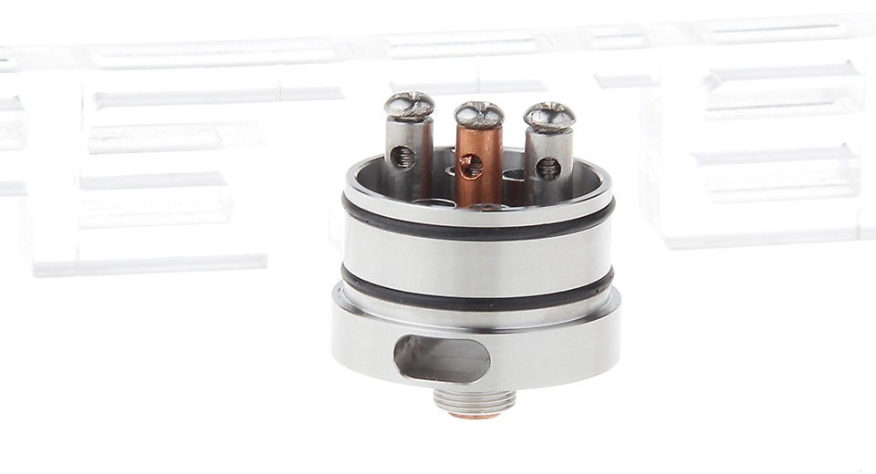 Replacement Base KENNEDY 24 RDA Atomizer Base, SS, Silver