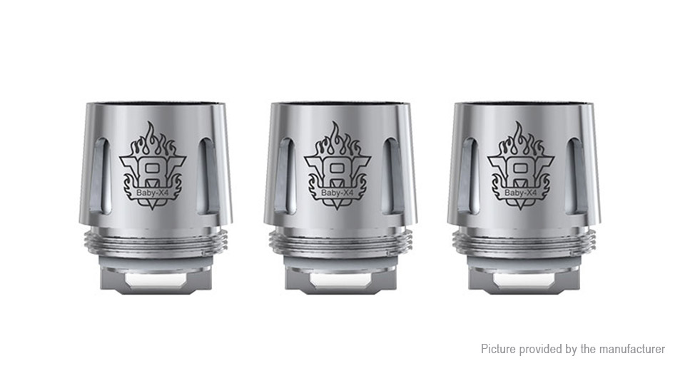 Image of Authentic Smoktech SMOK TFV8 Baby Replacement Coil-X4 Coil Head (3-Pack)