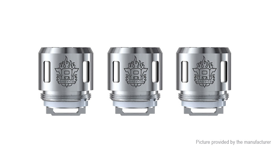 Image of Authentic Smoktech SMOK TFV8 Baby Replacement T8 Coil Head (3-Pack)