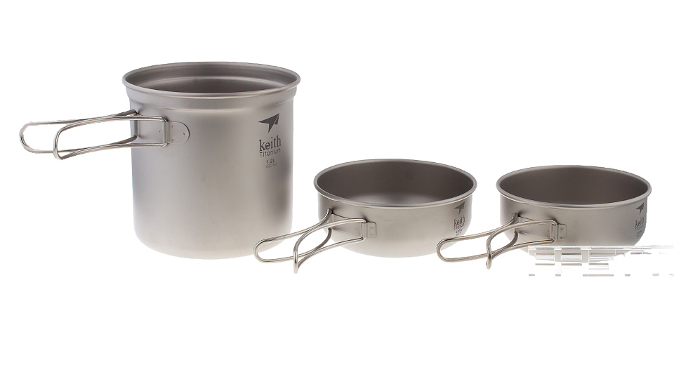 Authentic Keith Ti6052 Titanium Pot Set