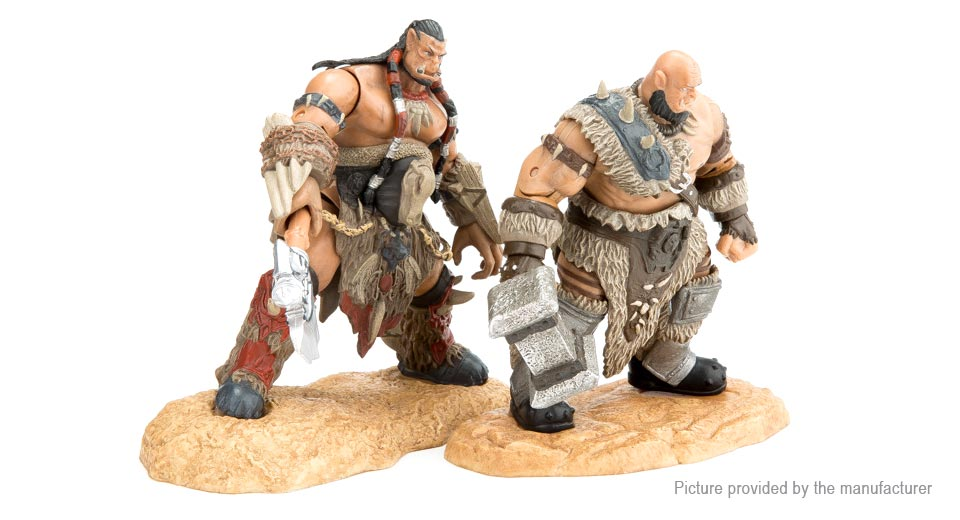WOW World of Warcraft Durotan & Thrall Figure Doll Toy Set (2-Piece Set)