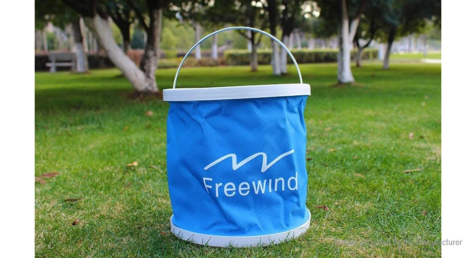 Freewind Outdoor Folding Water Bucket Fishing Pail (9L/Random Colors)