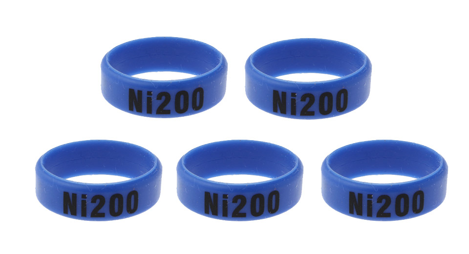 Silicone Anti-slip Ring for E-Cigarette Atomizers / Mods (5-Pack) 22mm, Ni200 Letter, Blue, 5-Pack
