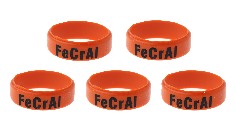 Silicone Anti-slip Ring for E-Cigarette Atomizers / Mods (5-Pack) 22mm, FeCrAl Letter, Orange, 5-Pack