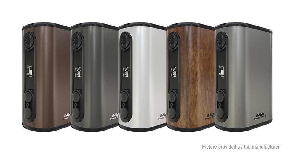 Image of Authentic Eleaf iStick Power Nano 40W 1100mAh TC VW APV Mod (Wood Grain)