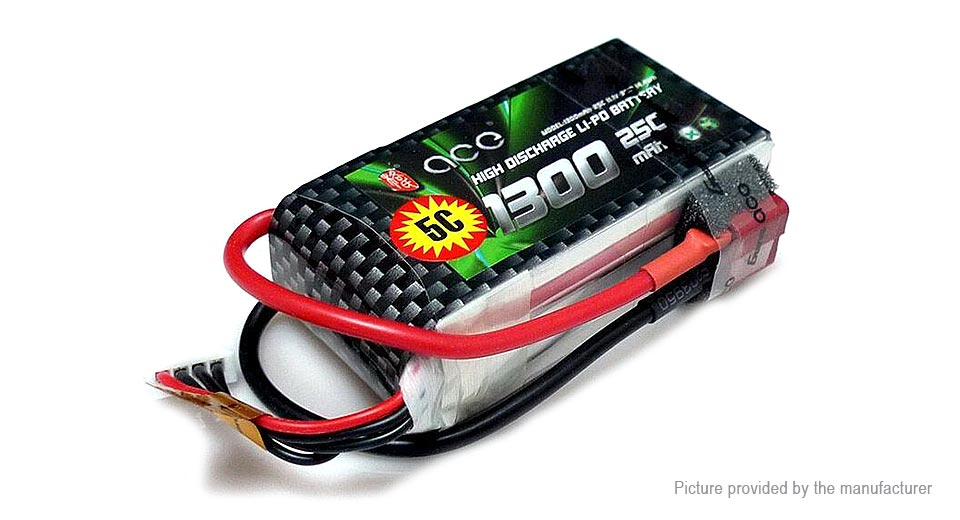 Authentic ACE 11.1V 1300mAh 3S 25C LiPo Battery