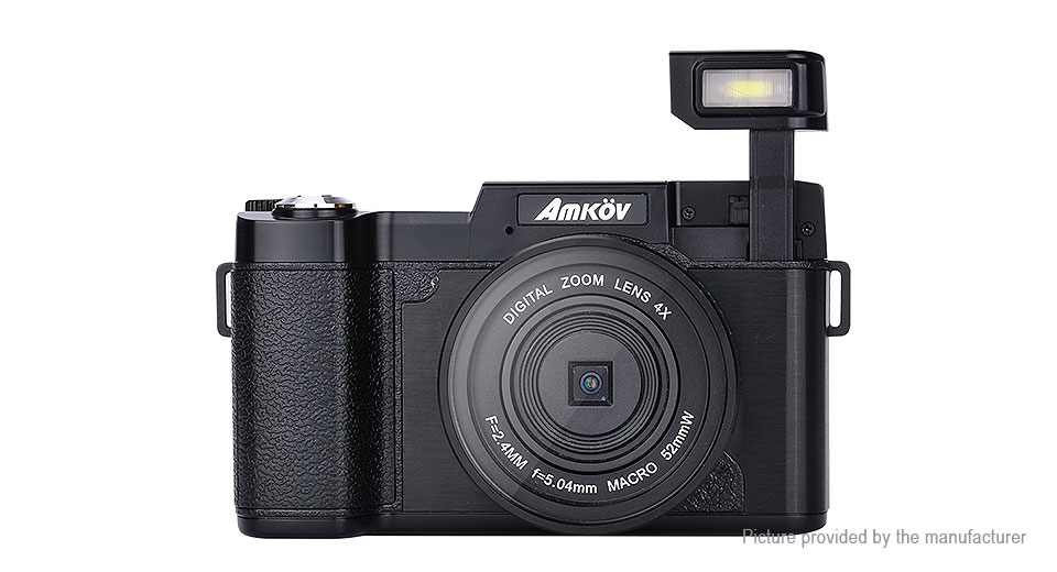 Image of Authentic AMKOV CD-R2 Digital Camera w/ 0.45X Wide Angle Lens Kit