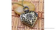 Buy Hollowed-out Heart Shape Alloy Pocket Watch Chain Heart, Hollow (style B), Bronze