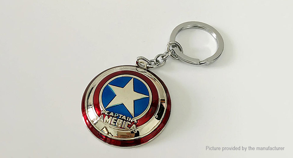 Marvel the Avengers Captain America Shield Key Ring Pendant