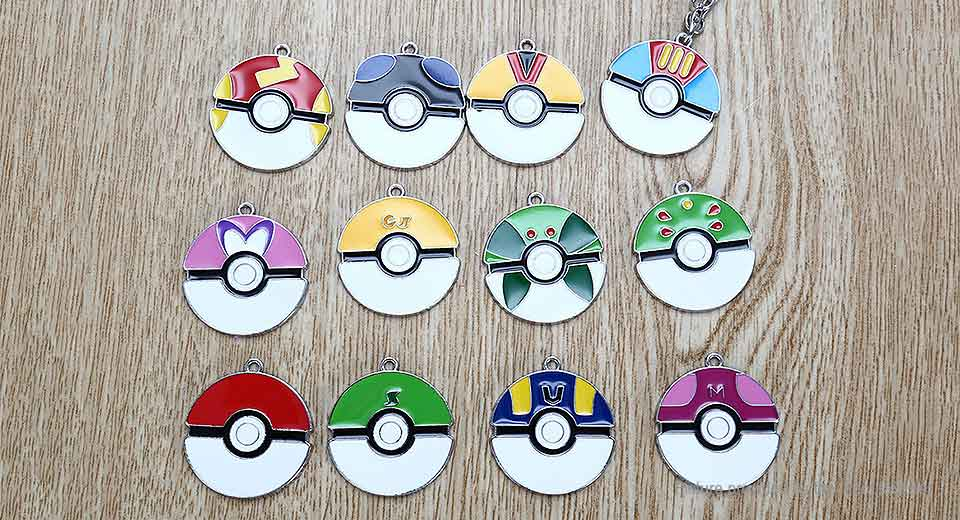 Pocket Monster Poke Ball Pendant Set (12-Pieces Set) Monster, Ball, 12-Pieces