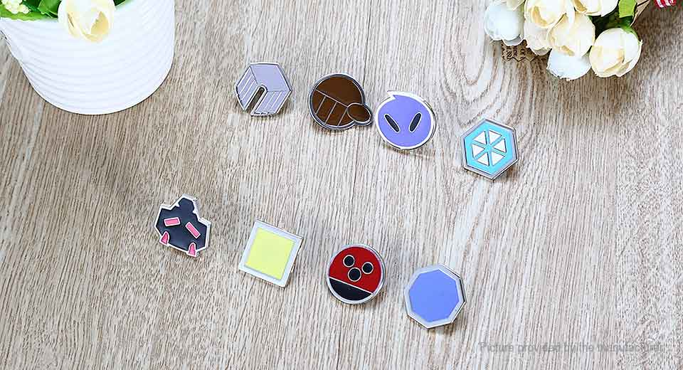 Pocket Monster Movie Product Badge Pin Set (8-Pieces Set) Monster, Style C, 8-Pieces