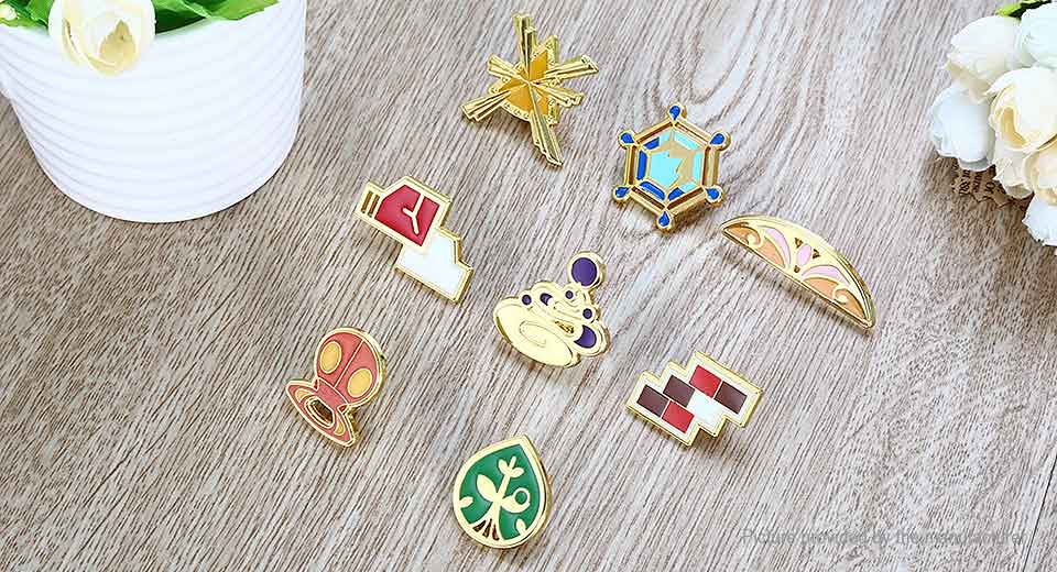 Pocket Monster Movie Product Badge Pin Set (8-Pieces Set) Monster, Style E, 8-Pieces