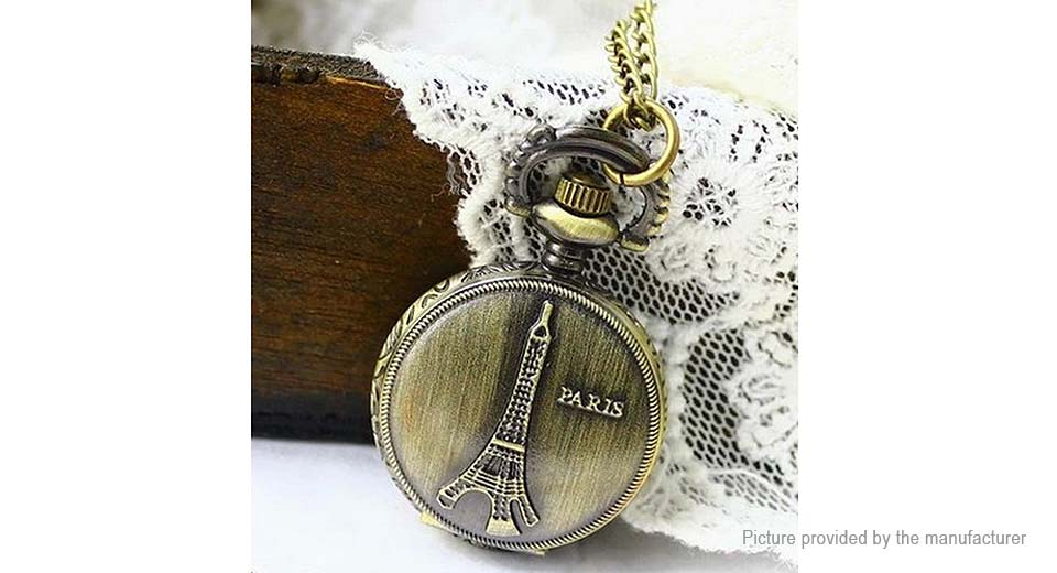 Retro Eiffel Tower Styled Alloy Pocket Watch