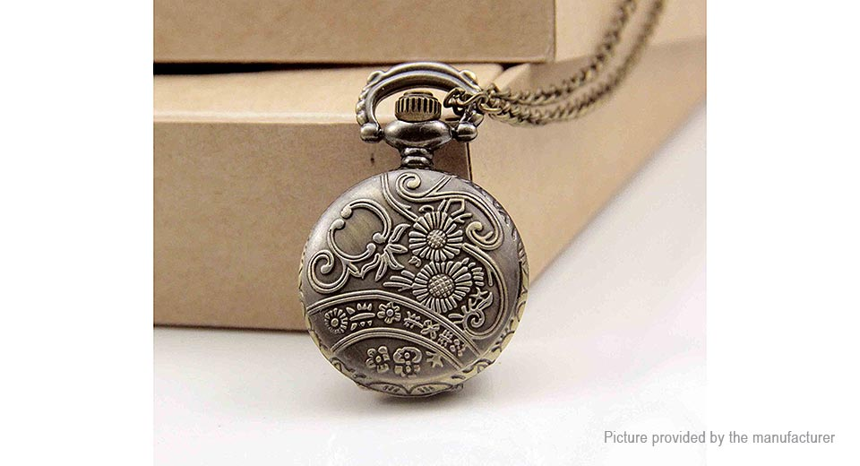 Double Face Hollow Stars Pattern Pocket Watch