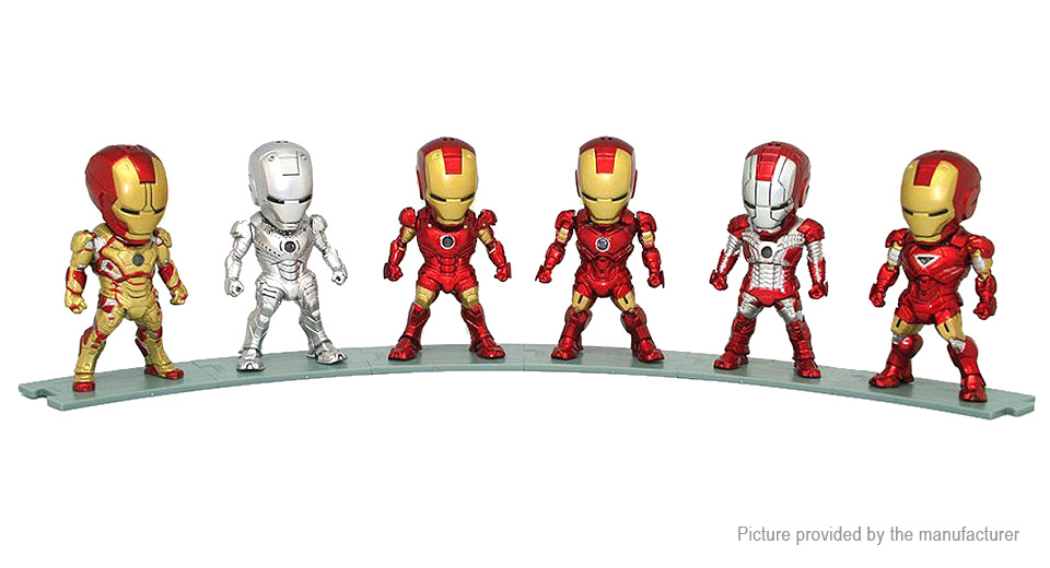 Iron Man Figure Doll Toy Set (6-Piece Set)