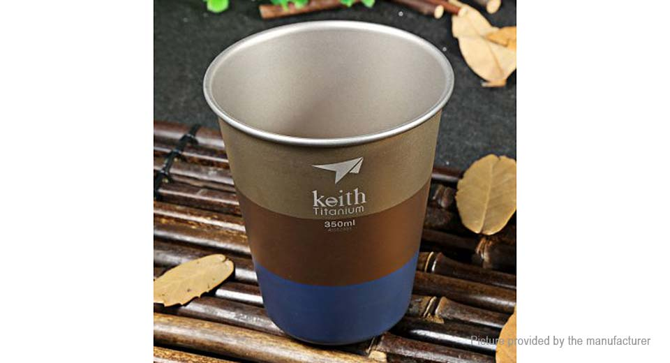 Keith Ti9016 Colorful Titanium Vacuum Cup Mug (350ml)