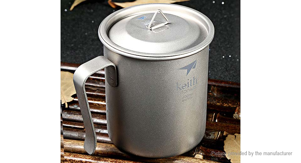 Keith Ti3263 Single-wall Titanium Vacuum Cup Mug (400ml)