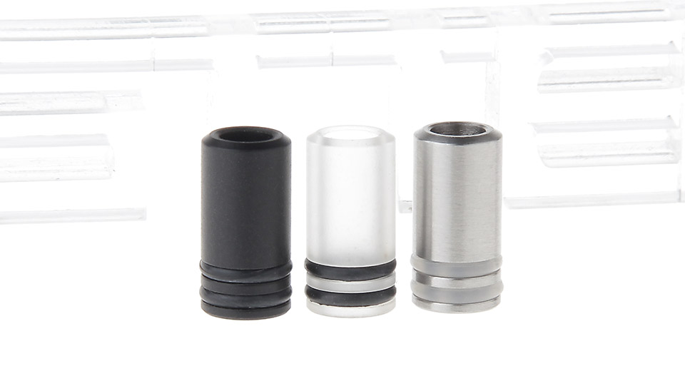 Image of Acrylic + POM + Acrylic 510 Drip Tip (3 Pieces)