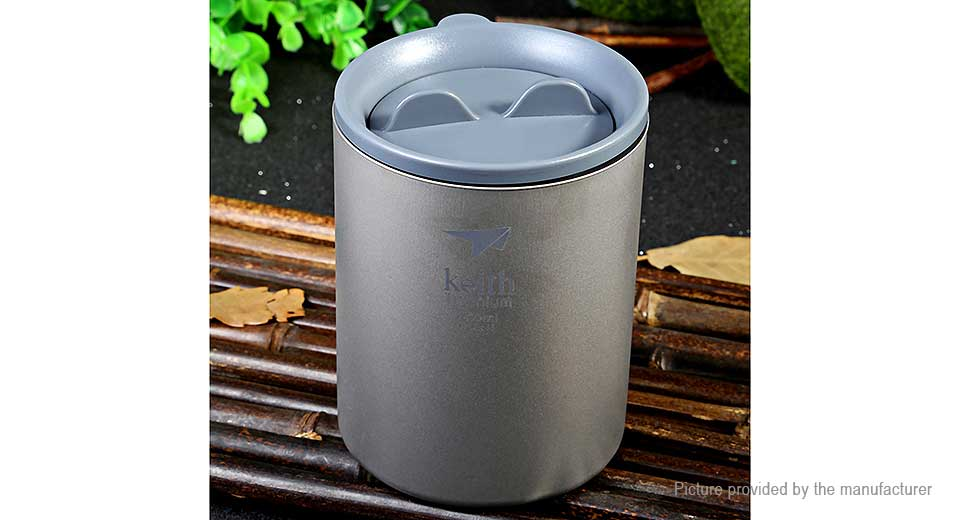 Keith Ti82 Titanium Double-wall Vacuum Cup Mug (450ml)