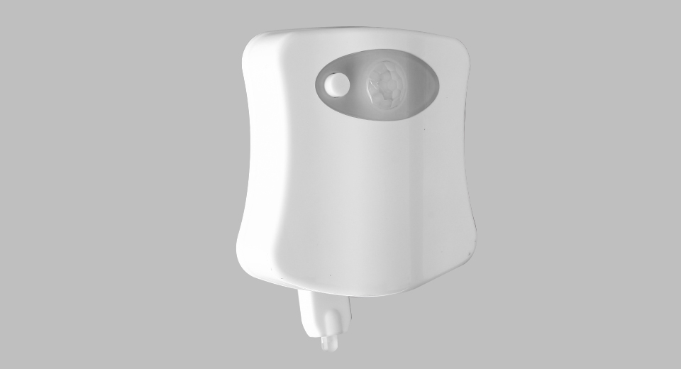 Body Motion Sensor Activated Toilet Bowl Bathroom Night Lamp